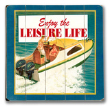 Leisure Lifestyle - Boat Wood Sign