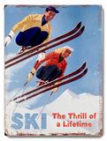 Ski - The thrill of a Lifetime Placa de madeira