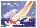Sailing is a Lifestyle Wood Sign