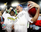 Santonio Holmes and Ben Roethlisberger celebrate - Super Bowl XLIII Photo