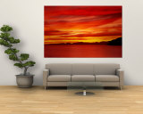 Sunrise, Water, Mulege, Baja, California, Mexico, United States Wall Mural
