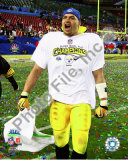 James Farrior celebrates - Super Bowl XLIII Photo