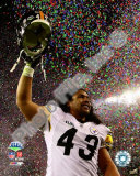 Troy Polamalu celebrates - Super Bowl XLIII Photo