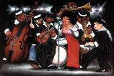 Lady Singing the Blues Affiches par Leonard Jones
