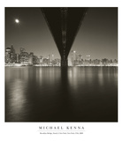 Brooklyn Bridge Study 2, NY 2006 Posters by Michael Kenna