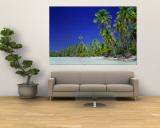 Beach with Palm Trees, Bora Bora, Tahiti Wall Mural