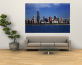 Skyline from Lake Michigan, Chicago, Illinois, USA Wall Mural
