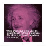 Albert Einstein: Miracle Print
