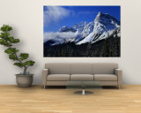 Rocky Mountains, Winter, Alberta, Canada Wall Mural