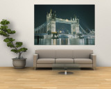 Bridge Lit Up at Night, Tower Bridge, London, England Wall Mural