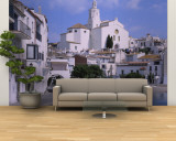 Buildings on the Waterfront, Cadaques, Costa Brava, Spain Wall Mural – Large