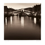 Ponte Rialto di Notte Prints by Alan Blaustein