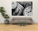 Clocks and Dollar Bills Wall Mural