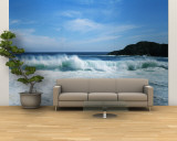 Crashing Waves at Isla Navadad Resort in Manzanillo, Colima, Mexico Wall Mural – Large