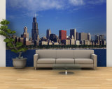 Skyline from Lake Michigan, Chicago, Illinois, USA Wall Mural – Large