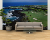 Aerial Francis H. Li Brown Golf Course, Hawaii, USA Gran mural