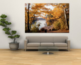 Sunset, Sacandaga Lake, Adirondack Mountains, New York State, USA Wall Mural