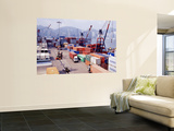 Shipping Containers, Victoria Harbor, Hong Kong, China Wall Mural