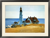 Phare de Porthead|Lighthouse, Porthead Affiches par Edward Hopper