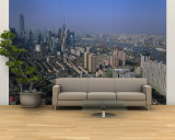 Aerial View of Buildings in a City, Pudong, Shanghai, China Wall Mural – Large