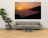 Sunset with Marine Layer, Pacific Ocean, Big Sur, California, USA Wall Mural