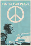 John Lennon - Give Peace a Chance Wall Poster