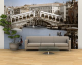 Bridge Over a Canal, Rialto Bridge, Venice, Veneto, Italy Wall Mural – Large