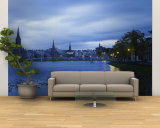 Buildings along the River, Inverness, Scotland Wall Mural – Large