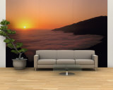 Sunset with Marine Layer, Pacific Ocean, Big Sur, California, USA Wall Mural – Large