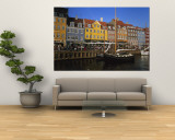 Buildings on the Waterfront, Nyhavn, Copenhagen, Denmark Wall Mural