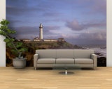 Lighthouse on the Waterfront, Pigeon Point Lighthouse, California, USA Wall Mural – Large
