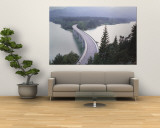 Bridge over Sylvenstein Lake, Bavaria, Germany Wall Mural