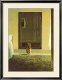 Bunny Dressing Print by Michael Sowa