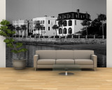 Buildings along the Waterfront in Black and White, Charleston, South Carolina, USA Wall Mural – Large
