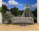 Ruins of an Old Temple, Tikal, Guatemala Wall Mural – Large
