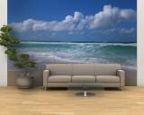 Waves Crashing on the Beach, Sunset Beach, Oahu, Hawaii, USA Fototapete – groß