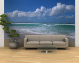 Waves Crashing on the Beach, Sunset Beach, Oahu, Hawaii, USA Premium Wall Mural (Large)