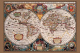 17th Century World Map Prints