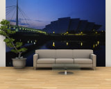 Bridge Lit Up at Dusk, Scottish Exhibition and Conference Center, Glasgow, Scotland, United Kingdom Wall Mural – Large