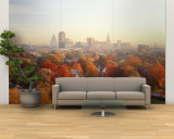 Autumn Trees in a City, Hartford, Connecticut, USA Wall Mural – Large