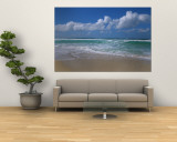 Waves Crashing on the Beach, Sunset Beach, Oahu, Hawaii, USA Reproduction murale g&#233;ante