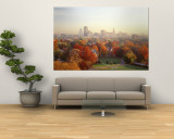 Autumn Trees in a City, Hartford, Connecticut, USA Wall Mural
