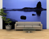 Silhouette of Rocks on the Beach, Black Nab, Whitby, England, United Kingdom Wall Mural – Large