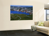 High Angle View of a City, Signal Hill, Saint John&#39;s, Newfoundland and Labrador, Canada Wall Mural