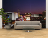 Buildings Lit Up at Night, Las Vegas, Nevada, USA Wall Mural – Large