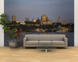Buildings on the Waterfront, Quebec City, Quebec, Canada Wall Mural – Large