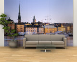 Buildings on the Waterfront, Old Town, Stockholm, Sweden Wall Mural – Large