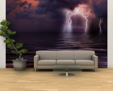 Lightning over the Sea Wall Mural – Large