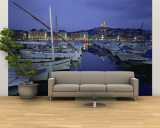 Boats Docked at a Port, Old Port, Marseille, Bouches-Du-Rhone, Provence-Alpes-Cote Daze, France Wall Mural – Large