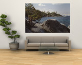 Rocks on the Coast, Lake Tahoe, California, USA Wall Mural